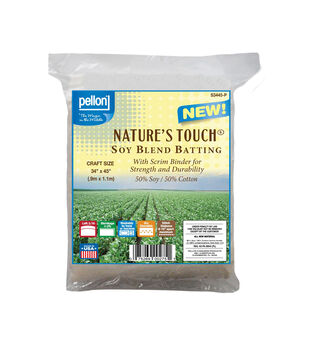 "Pellon Nature's Touch Soy Blend Batting with Scrim Craft Size 34""x45"""