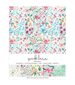 Park Lane 50 pk 8.5''x11'' Value Papers-Floral