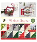 DCWV 12\u0022x12\u0022 Premium Stack-Farmhouse Christmas