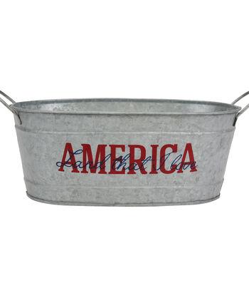Americana Galvanized Bucket-America