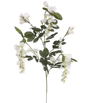 "Bloom Room 33"" Wisteria Spray x5-White"