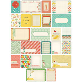 Project Life Themed Cards 60/Pkg-Celebrate
