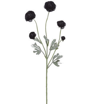 Bloom Room 28'' Ranunculus Spray-Black