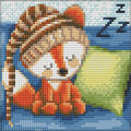 RTO Diamond Mosaic Embroidery Kit 15X15cm-Sleepy Little Fox