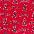 Los Angeles Angels Cotton Fabric -Tossed Print