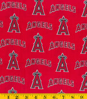 Los Angeles Angels Cotton Fabric -Tossed Print, , hi-res