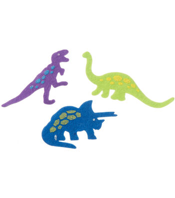 Darice Feltie Stickers 30/Pkg-Dinos
