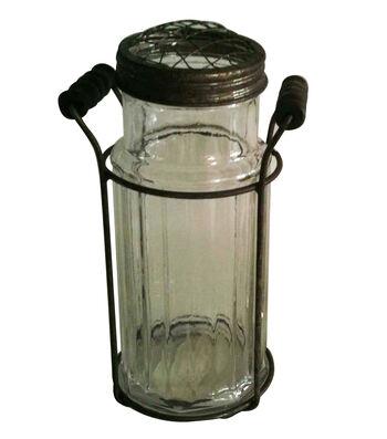 Bloom Room Glass Vase With Metal Holder
