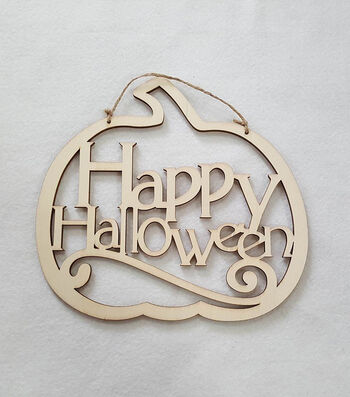 Maker's Halloween Laser Wood- Happy Halloween Pumpkin
