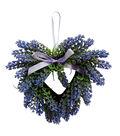 Fresh Picked Spring Farmhouse 9.5\u0027\u0027x10\u0027\u0027 Mini Heart Wreath-Purple