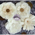 Prima Marketing Finnabair Art Basics 4 pk Alterable Fabric Flowers