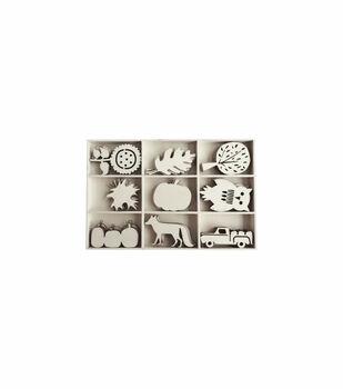 Simply Autumn Craft Mini Wood Icons