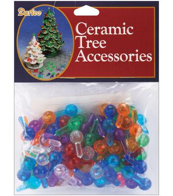 "Ceramic Christmas Tree Bulbs .5"" 100/Pkg-Medium Globe - Multicolor"