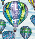 Novelty Cotton Fabric 43\u0022-Fly Away With Me