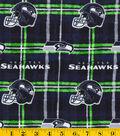 Seattle Seahawks Flannel Fabric 42\u0022-Plaid