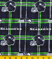 "Seattle Seahawks Flannel Fabric 42""-Plaid, , hi-res"