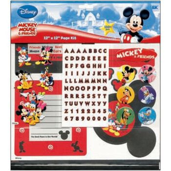 "Mickey Mouse&Friends 12""X12"" Page Kit"