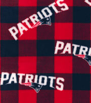 New England Patriots Fleece Fabric -Buffalo Plaid, , hi-res