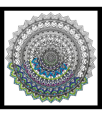 Design Works Zenbroidery Stamped Picture Kit-Mandala