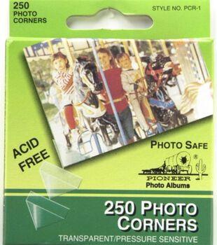 Pioneer Self-Adhesive Photo Corners Clear