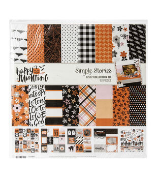 Simple Stories Collection Kit 12''X12''-Happy Haunting