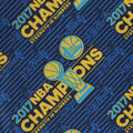 Golden State Warriors Cotton Fabric -Logo Tossed