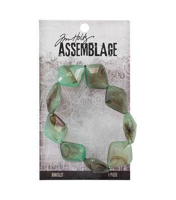 Tim Holtz Assemblage 9'' Acrylic Jadeite Beads Bracelet