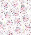 Nursery Cotton Fabric-Tossed Lambs