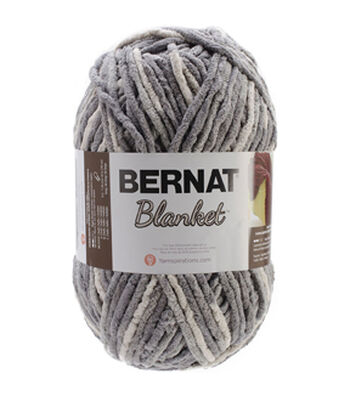 Bernat Blanket Big Ball Yarn - Silver Steel Multipack of 12