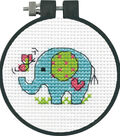 Learn-A-Craft Elephant Counted Cross Stitch Kit-3\u0022 11 Count