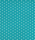 Snuggle Flannel Fabric-White Dots on Baltic