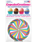 Cupcake Creations 24 Pack 2.5\u0027\u0027 Jumbo Baking Cups-Rainbow Swirl