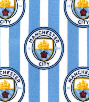 Manchester City Football Club Fleece Fabric 58''