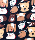 Blizzard Fleece Fabric 59\u0022-Puppy Faces