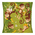 RIOLIS 11.75\u0027\u0027x11.75\u0027\u0027 Counted Cross Stitch Cushion Kit-Jungle