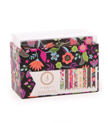 Ms. Sparkle & Co. Pack of 40 A2 Cards & Envelopes-Floral Paradise
