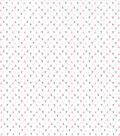 Nursery Cotton Fabric -Gray & Pink Triangles