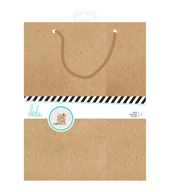 Heidi Swapp Gift Wrap Large Bag-Kraft