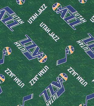 Utah Jazz Cotton Fabric -Logo Toss