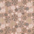 Christmas Cotton Fabric-Snowflakes Natural Wood Metallic