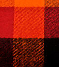Plaiditudes Brushed Fabric 44\u0027\u0027-Orange, Rust & Black Buffalo Check