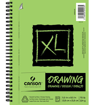 Canson XL 5.5''x8.5'' 60 Sheets Spiral Drawing Pad