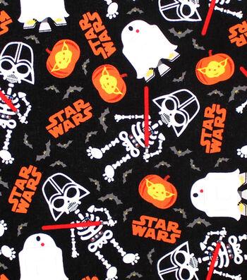 "Star Wars Halloween Cotton Fabric 44""-Glow in the Dark"