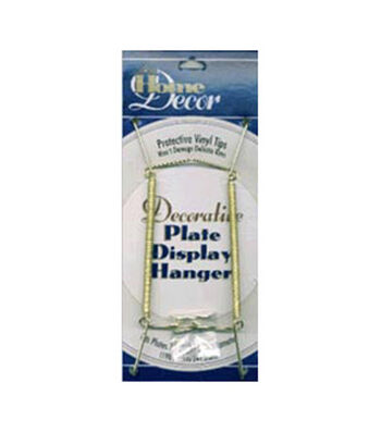 """Decorative Plate Display Hanger Expandable 7-1/2""""-9-1/2""""-Gold"""
