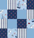 Nursery Fleece Fabric -Sailor Dog 3D Patch