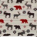 Super Snuggle Flannel Fabric-Checked Animals Stripes