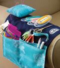DMC 20\u0027\u0027x12.25\u0027\u0027 Armchair Needlework Organizer-Dark Blue & White