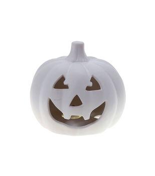 Maker's Halloween Craft 5.6''x5.2'' LED Ceramic Jack-o'-lantern