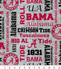 University of Alabama Crimson Tide Fleece Fabric 60\u0022- Heather Verbiage