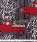 Anti-Pill Plush Fleece Fabric-All Roads Lead Home Holiday